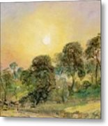 Trees On Hampstead Heath At Sunset Metal Print by John Constable