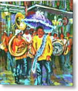 Treme Brass Band Metal Print by Dianne Parks