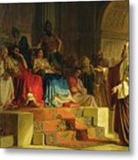 Trial Of The Apostle Paul Metal Print by Nikolai K Bodarevski