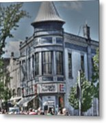 Triangle Market Metal Print by David Bearden