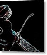 Tron Hockey - 1 Metal Print by Tya Kottler