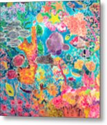 Tropical Coral Metal Print by Hilary Simon
