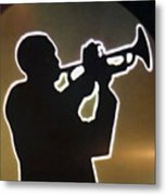 Trumpet - Classic Jazz Music All Night Long Metal Print by Christine Till