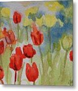 Tulip Field Metal Print by Gretchen Bjornson