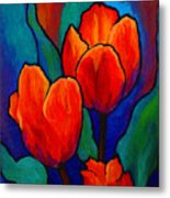 Tulip Trio Metal Print by Marion Rose