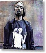 Tupac Shakur Metal Print by Raymond L Warfield jr