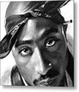 Tupac Shakur Metal Print by Ylli Haruni