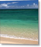 Turquoise Water Of Kanaha Beach Maui Hawaii Metal Print by Pierre Leclerc Photography