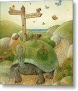 Turtle And Rabbit01 Metal Print by Kestutis Kasparavicius