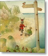 Turtle And Rabbit07 Metal Print by Kestutis Kasparavicius