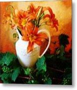 Tuscany Bouquet Metal Print by Marsha Heiken