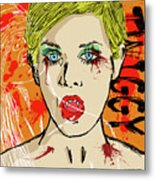 Twiggy Got Jealous Metal Print by Sean King