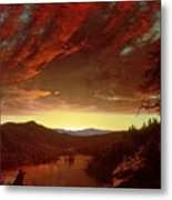 Twilight In The Wilderness Metal Print by Frederic Edwin Church
