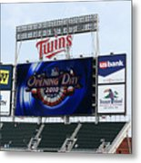 Twins Home Opener 2010 Metal Print by Ron Read