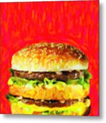 Two All Beef Patties Metal Print by Wingsdomain Art and Photography