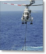 Two Sa-330 Puma Helicopters Deliver Metal Print by Stocktrek Images