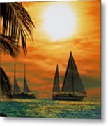 Two Ships Passing In The Night Metal Print by Bill Cannon