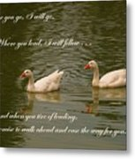 Two Swans - Marriage Vows Metal Print by Yali Shi
