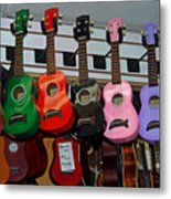 Ukeleles For Sale Metal Print by Suzanne Gaff