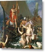 Ulysses And The Sirens Metal Print by Leon Auguste Adolphe Belly