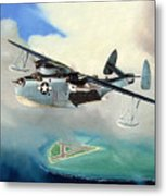 Uncle Bubba's Flying Boat Metal Print by Marc Stewart