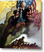 Uncle Sam - Buy War Bonds Metal Print by War Is Hell Store