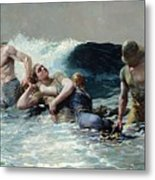 Undertow Metal Print by Winslow Homer