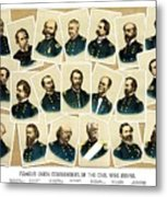Union Commanders Of The Civil War Metal Print by War Is Hell Store