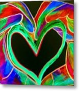 Universal Sign For Love Metal Print by Eloise Schneider