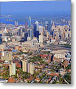 University Of Pennsylvania And Philadelphia Skyline Metal Print by Duncan Pearson