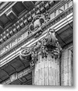 University Of Pennsylvania Column Detail Metal Print by University Icons