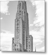 University Of Pittsburgh Cathedral Of Learning Metal Print by University Icons