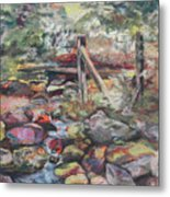 Unseated On Trout Brook Metal Print by Alicia Drakiotes