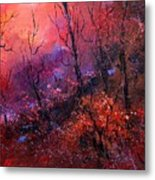 Unset In The Wood Metal Print by Pol Ledent