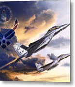 Us Air Force Metal Print by Kurt Miller