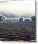 U.s. Bombs Burst During Fighting Metal Print by Everett