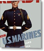 Us Marines - Ready Metal Print by War Is Hell Store