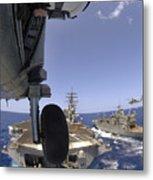 U.s. Navy Petty Officer Leans Metal Print by Stocktrek Images