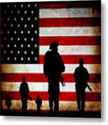 Usa Military Metal Print by Angelina Vick