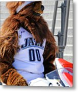 Utah Jazz Bear Metal Print by Dennis Hammer