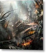 Utherworlds Ashes Metal Print by Philip Straub