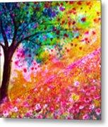 Valentine Tree Metal Print by Ann Marie Bone