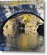 Valley Green Bridge Metal Print by Bill Cannon