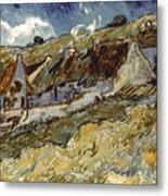 Van Gogh: Cottages, 1890 Metal Print by Granger