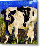 Van Gogh.s Big Bull . 7d12437 Metal Print by Wingsdomain Art and Photography