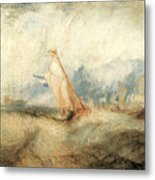 Van Tromp Going About To Please His Masters Metal Print by J M W Turner