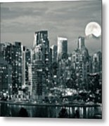 Vancouver Moonrise Metal Print by Lloyd K. Barnes Photography