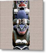 Vancouver Totem - 2 Metal Print by Linda  Parker