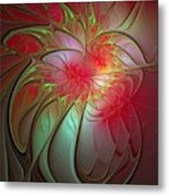 Vase Of Flowers Metal Print by Amanda Moore