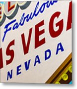 Vegas Tribute Metal Print by Slade Roberts